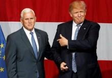 Trump ve Pence: O habere çok güldük